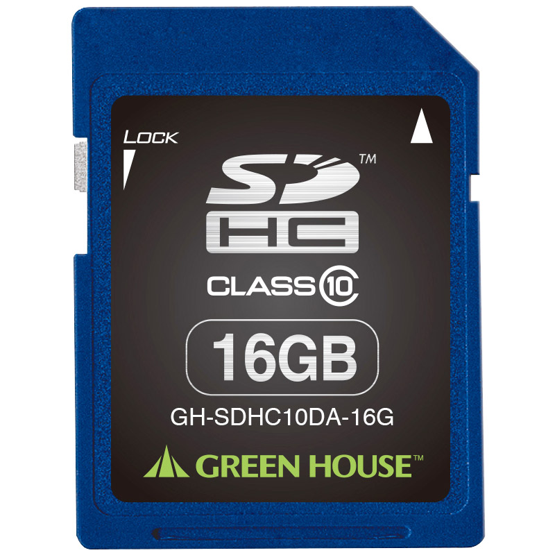 SDHCメモリーカード 16GB クラス10 +データ復旧サービス GH-SDHC10DA-16G(FMDI004523)