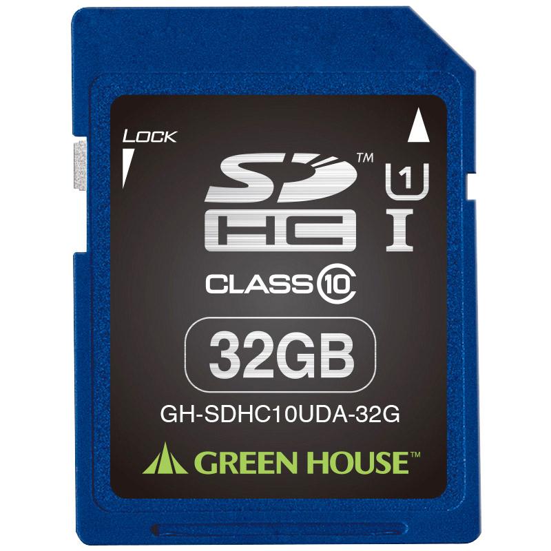 SDHCメモリーカード 32GB UHS-I クラス10 +データ復旧サービス GH-SDHC10UDA-32G(FMDI004525)