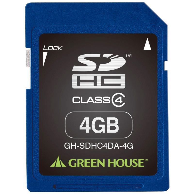SDHCメモリーカード 4GB クラス4 +データ復旧サービス GH-SDHC4DA-4G(FMDI004527)