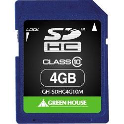 SDHCメモリーカード(MLCチップ) 4GB Class10 GH-SDHC4G10M(FMDI004528)