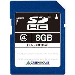 SDHCメモリーカード クラス4 8GB GH-SDHC8G4F(FMDI013063)