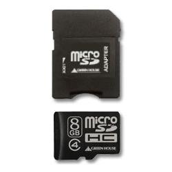 microSDHCカード(アダプタ付属) 8GB Class4 GH-SDMRHC8G4(FMDI004719)