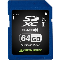 SDXCメモリーカード UHS-I クラス10 64GB GH-SDXCUA64G(FMDI004532)