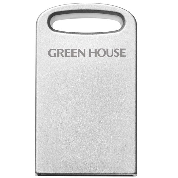 アルミボディ小型USB3.1(Gen1)メモリー 64GB シルバー GH-UF3MB64G-SV(FMDI012413)