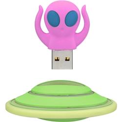 USBメモリー エイリアン形 8GB ピンク GH-UFDAL8G-PK(FMDI003812)