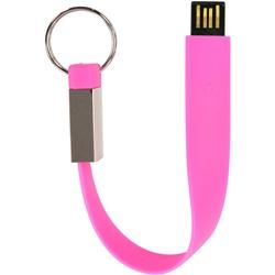 USBメモリー ストラップ形 8GB ピンク GH-UFDST8G-PK(FMDI003818)