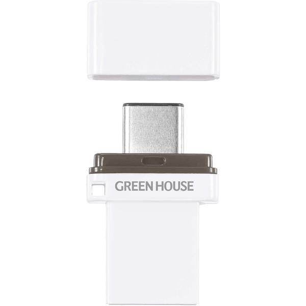 Type-C/A USB3.1メモリー 64GB GH-UFY3CA64GWH(FMDI014432)