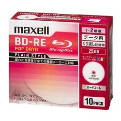 2倍速対応データ用BD-RE25GB PLシリーズ10枚1枚ずつプラケース プリント対応ホワイト・BE25PPLWPA.10S(FMDI004153)