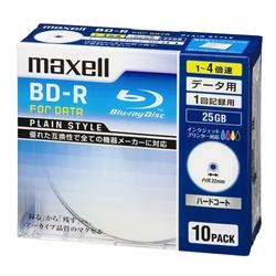 4倍速対応データ用BD-R25GB PLシリーズ10枚1枚ずつ5mmプラケースプリント対応ホワイト・BR25PPLWPB.10S(FMDI004172)