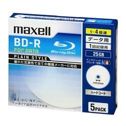 4倍速対応データ用BD-R25GB PLシリーズ5枚1枚ずつ5mmプラケース プリント対応ホワイト・BR25PPLWPB.5S(FMDI004173)