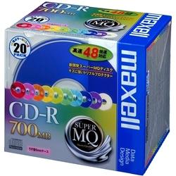 データ用CD-R 700MB 48倍速対応 20枚パック CDR700S.MIX1P20S(FMDI004765)
