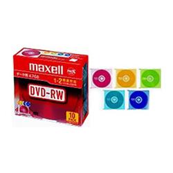 データ用1-2倍対応DVD-RW4.7GB10枚パック 1枚ずつプラケース入 カラ-MIX DRW47MIXB.S1P10S A(FMDI004872)