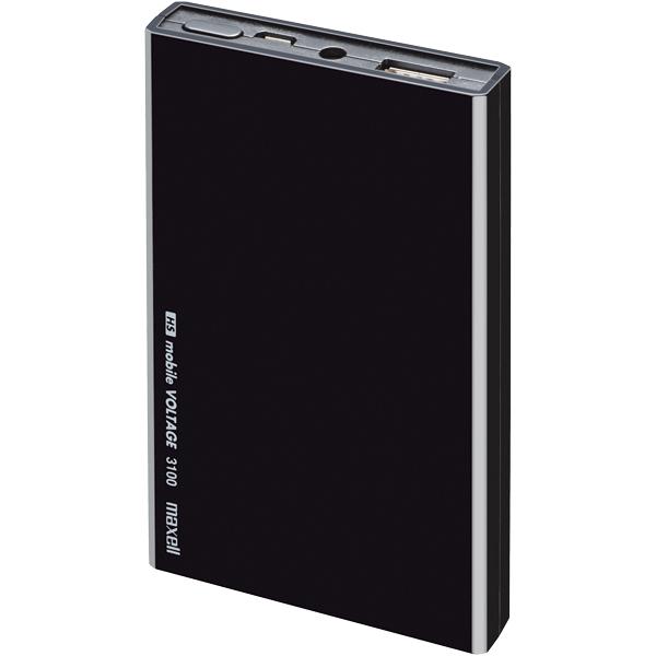 【高速自己充電】モバイル充電バッテリー 「mobile VOLTAGE」 (ブラック) MPC-C3100BK(FMDI005669)
