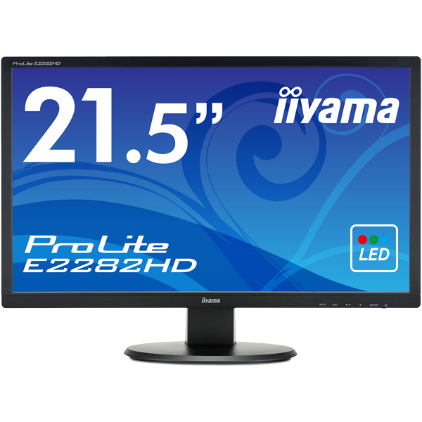 21.5型ワイド液晶ディスプレイ ProLite E2282HD (LED、フルHD) マーベルブラック(FMDI006033)