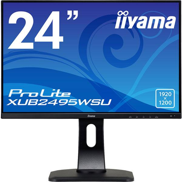 24.1型ワイド液晶ディスプレイ ProLite XUB2495WSU (WUXGA/USBハブ付/昇降/回転/スウィーベル) ブラック(FMDI010709)