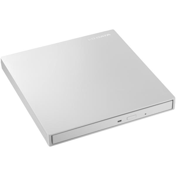 USB3.1 Gen1 Type-C対応 バスパワー駆動ポータブルDVDドライブ パールホワイト DVRP-UT8CW/E(FMDI013595)