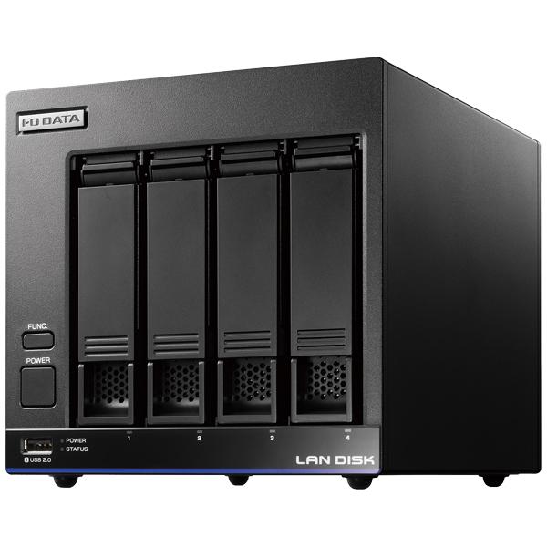 高性能CPU&NAS用HDD4ドライブビジネスNAS「LAN DISK X」 8TB 引っ越し機能付 HDL4-X8(FMDI007738)