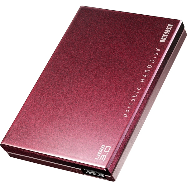USB3.0/2.0対応 ポータブルハードディスク 「超高速カクうす」 ボルドー 1.0TB・HDPC-UT1.0BRE(FMDI004114)