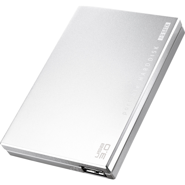 USB3.0/2.0対応 ポータブルハードディスク 「超高速カクうす」 シルバー 1.0TB・HDPC-UT1.0SE(FMDI004116)