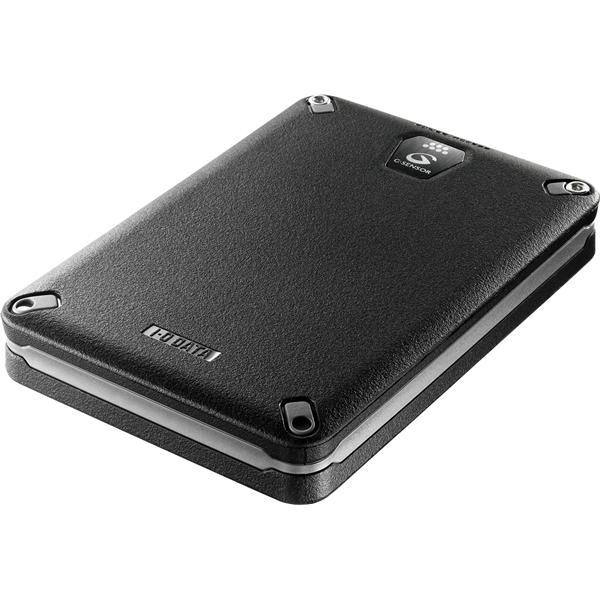 USB3.0/2.0対応 Gセンサー搭載耐衝撃ポータブルハードディスク ブラック 1.0TB HDPD-AUT1.0KB(FMDI005101)