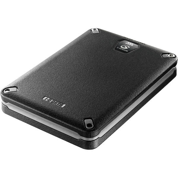 USB3.0/2.0対応 Gセンサー搭載耐衝撃ポータブルハードディスク ブラック 2.0TB HDPD-AUT2.0KB(FMDI005103)