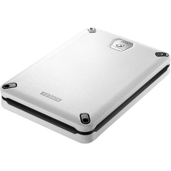 USB3.0/2.0対応 Gセンサー搭載耐衝撃ポータブルハードディスク ホワイト 2.0TB HDPD-AUT2.0WB(FMDI005104)