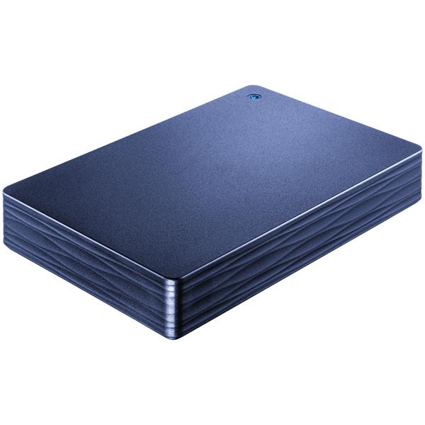 USB 3.0/2.0対応ポータブルハードディスク「カクうす波(なみ)」 2TB ミレニアム群青 HDPH-UT2DNV(FMDI005857)