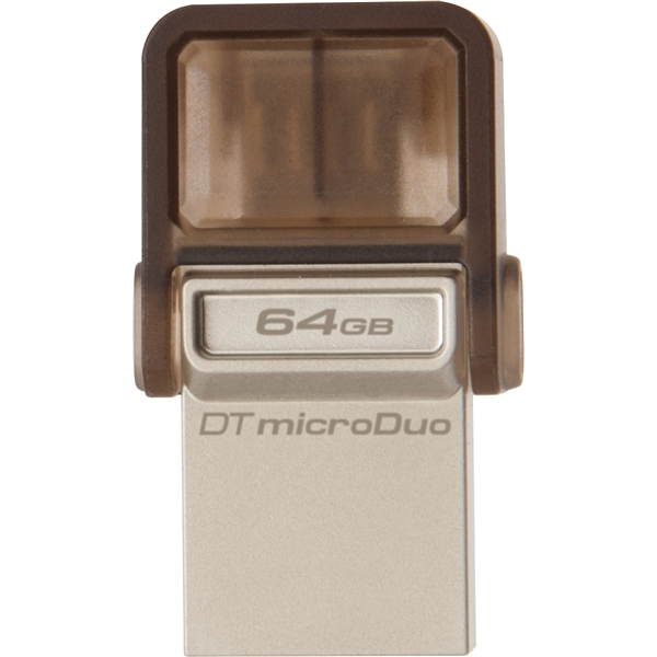 DataTraveler microDuo 64GB USB������ PC/�X�}�[�g�t�H���A�^�u���b�g���Ή��EDTDUO/64GB(FMDI003881)