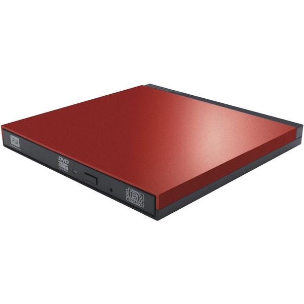 ポータブルDVDディスクドライブ/USB3.0/PUEシリーズ/M-DISC対応/オールインワンソフト付/レッド LDR-PUE8U3VRD(FMDI012255)