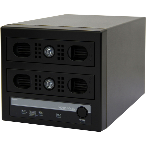Windows Storage Server 2012 R2 workgroup Edition搭載 RAID1対応 Cube型NAS/2TB LSV-MS2T/2VKW(FMDI007786)