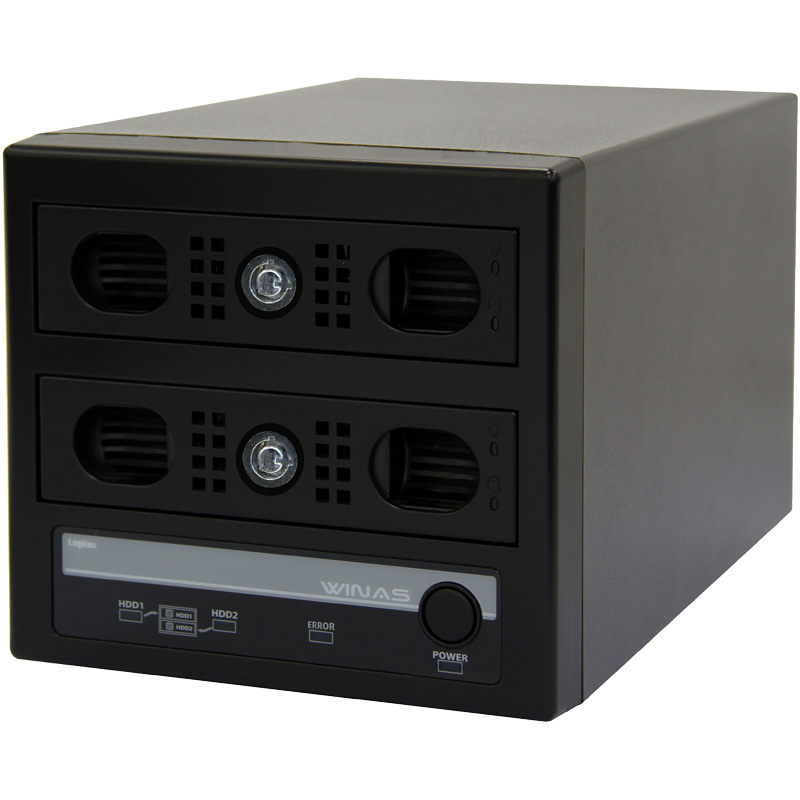 Windows Storage Server 2012 R2 workgroup Edition搭載RAID1 Cube型NAS/6TB LSV-MS6T/2VKW(FMDI007789)