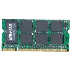 PC2-6400対応 800MHz 200Pin DDR2 SO-DIMM「D2/N800シリーズ」(1GB)(FMDI000462)