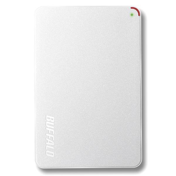 USB3.1(Gen1)/USB3.0用 ポータブルHDD 500GB ホワイト HD-PCF500U3-WE(FMDI007021)