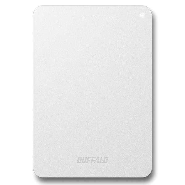 耐衝撃対応 USB3.1(Gen1)/USB3.0用 ポータブルHDD 2TB ホワイト HD-PNF2.0U3-GWE(FMDI007029)