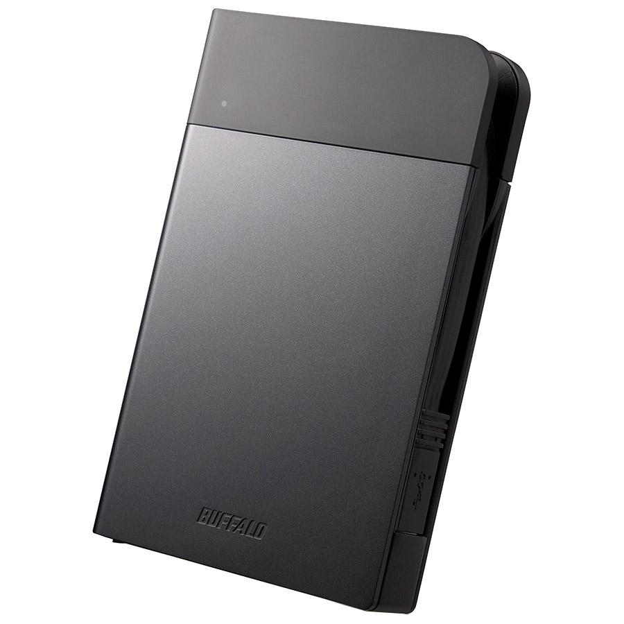 ICカード対応MILスペック 耐衝撃ボディー防雨防塵ポータブルHDD 2TB ブラック HD-PZN2.0U3-B(FMDI005877)