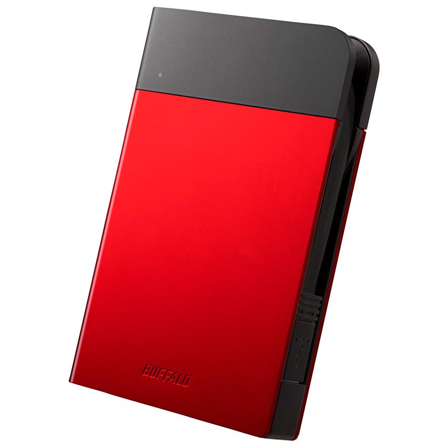 ICカード対応MILスペック 耐衝撃ボディー防雨防塵ポータブルHDD 2TB レッド HD-PZN2.0U3-R(FMDI005878)
