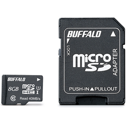 UHS-I Class1 microSDHCカード SD変換アダプター付 8GB RMSD-008GU1SA(FMDI004682)