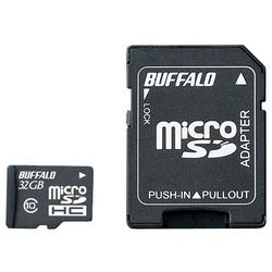 Class10 microSDHCカード SD変換アダプター付 32GB RMSD-32GC10AB(FMDI004681)