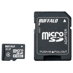 防水仕様 Class4対応 microSDHCカード SD変換アダプター付モデル 4GB RMSD-BS4GAB(FMDI013280)