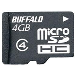 防水仕様 Class4対応 microSDHCカード 4GB RMSD-BS4GB(FMDI002409)