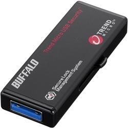 暗号化機能 管理ツール USB3.0 セキュリティーUSBメモリー ウイルスチェック 8GB RUF3-HS8GTV(FMDI010217)