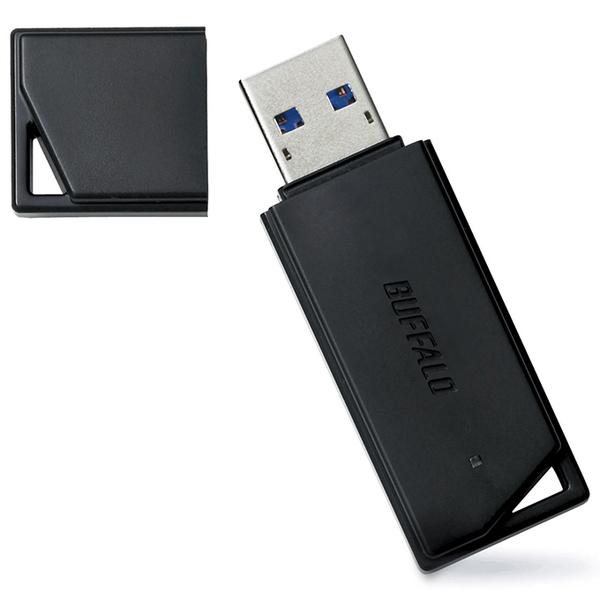 USB3.1(Gen1)/USB3.0対応 USBメモリー バリューモデル 128GB ブラック RUF3-K128GB-BK(FMDI012575)