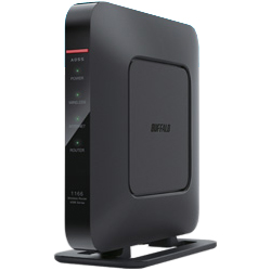 11ac/n/a/g/b 866+300Mbps エアステーション QRsetup ハイパワー Giga Wi-Fiリモコン ブラック WSR-1166DHP3-BK(FMDI007006)