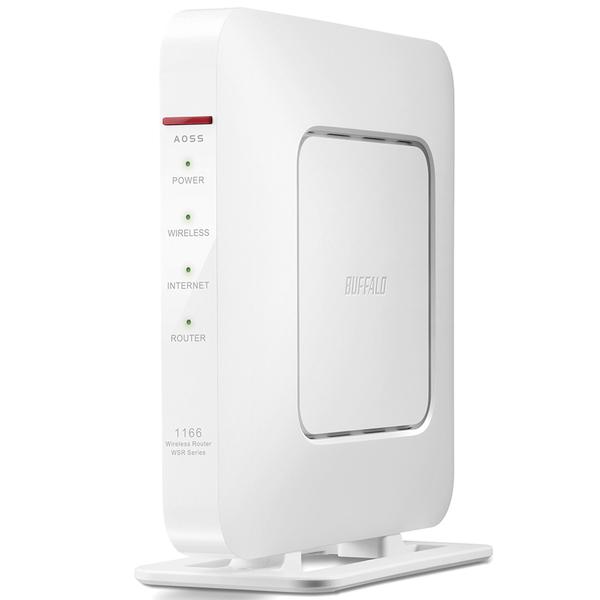 11ac/n/a/g/b 866+300Mbps エアステーション QRsetup ハイパワー Giga Wi-Fiリモコン ホワイト WSR-1166DHP3-WH(FMDI007007)