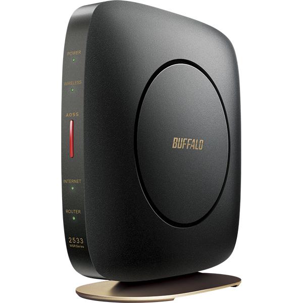 無線LAN親機 11ac/n/a/g/b 1733+800Mbps エアステーション ハイパワー Giga クールブラック WSR-2533DHP2-CB(FMDI012050)