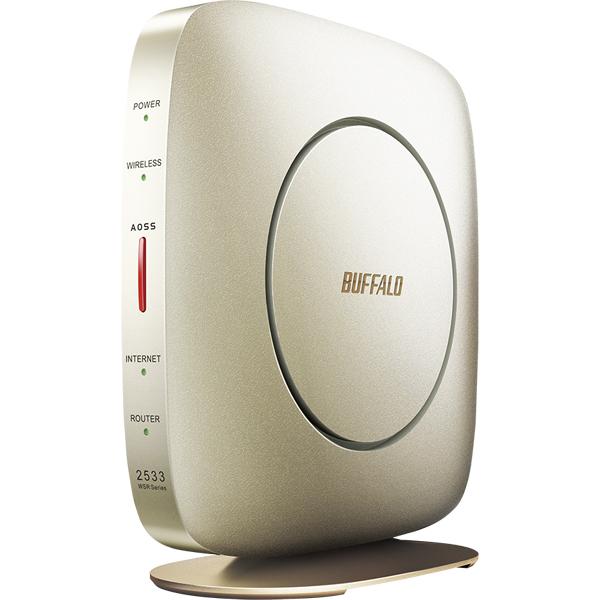 無線LAN親機 11ac/n/a/g/b 1733+800Mbps エアステーション ハイパワー Giga シャンパンゴールド WSR-2533DHP2-CG(FMDI012051)