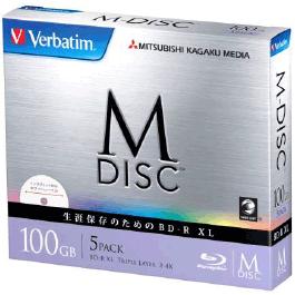 M-DISC BD-R XL<片面3層> 1回記録用 100GB 2-4倍速 1枚5mmケース(透明)5P (ホワイト) DBR100YMDP5V1(FMDI007198)