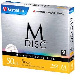 M-DISC BD-R DL<片面2層> 50GB 1-6倍速 1枚5mmケース(透明)5P インクジェットプリンタ対応(ホワイト) DBR50RMDP5V1(FMDI008323)