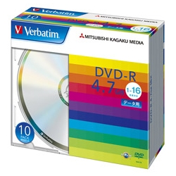 DVD-R 4.7GB PCデータ用 16倍速対応 10枚スリムケース入り シルバーディスク(FMDI001125)