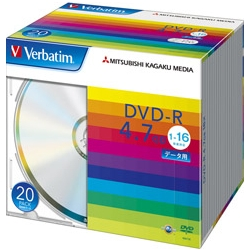 DVD-R 4.7GB PCデータ用 16倍速対応 20枚スリムケース入り シルバーディスク DHR47J20V1(FMDI004876)